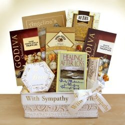 Hope and Love Deluxe Sympathy Gift Basket by Organic Stores