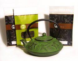 Mahamosa St Patricks Day Teapot and Tea Gift Set : Green Cast Iron Infuser Teapot (Tea Pot) and  ...