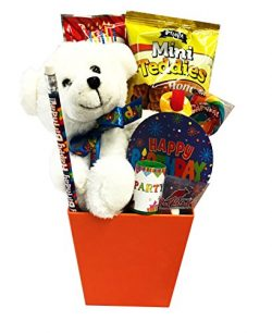 Special Gift Box – Happy Birthday Cake and Candy Care Package – Birthday Gift Tower  ...