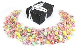 Quality Candy Assorted Fruit Starlights, 2 lb Bag in a BlackTie Box
