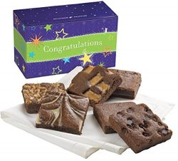 Fairytale Brownies Congratulations Half-Dozen Gourmet Food Gift Basket Chocolate Box – 3 I ...