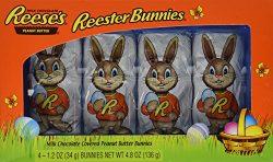 Reese's Peanut Butter Easter Bunnies Chocolate Gift Basket Stuffer, 1.2 Ounce Bunnies, 4 c ...