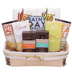 Chocolate Deluxe Gift Basket includes Theo, Frans, Seattle Chocolates and Forte