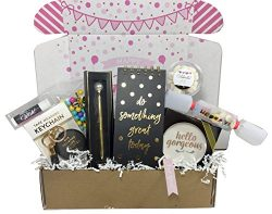 Birthday Gift Basket Box for Women, Stationary Gift Set for Mom, Aunt, Sister or Friend