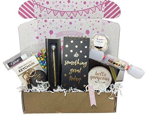 Birthday Gift Basket Box For Women Stationary Set Mom Aunt Sister