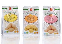 Biscotti Bite Size Cookies by The Bites Company- Premium, Certifies Organic and Kosher, Peanut a ...