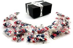 Jelly Belly Patriotic Jelly Beans, 0.45 oz Snack Packs of Assorted Red, White, and Blue Jelly Be ...