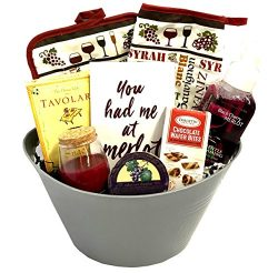 Wine and Cocktail Mix Gift Set with Ice Bucket, Cheese, Candle, More – Just Add Alcohol &# ...