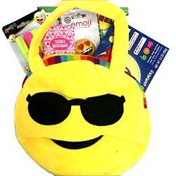 Gifts For Teen Girl – Tween Girl -Emoji Purse #1 Gift Basket with Emoji Purse, Lip Gloss,  ...