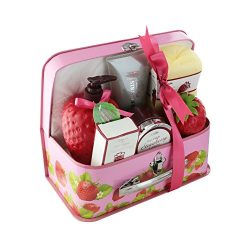 Spa Life All Natural Bath and Body Luxury Spa Gift Set Basket (Strawberry)