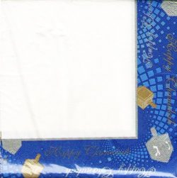 Chanukah Luncheon Paper Napkins , Disposable Napkins , Decorated with Hanukkah Dreidels –  ...