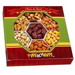 We Got Nuts 2 Pounds 7 Sectional Nuts Gift Tray- Healthy, Kosher : Roasted Almonds, Roasted Salt ...