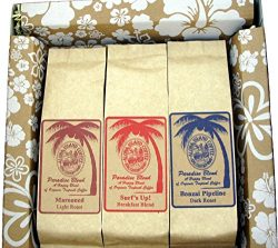 Organic, Rain Forest Alliance Coffee Sampler Gift, Assortment of Three Coffee Roasts, in Ready-t ...