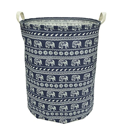 CLOCOR Large Storage Bin Cotton Storage Basket Round Gift Basket With  Handles For Toys
