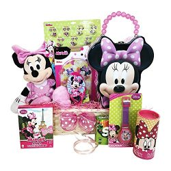 Gifts for Kids::Minnie Mouse Themed 10 Items In 1 Basket 12x6x4