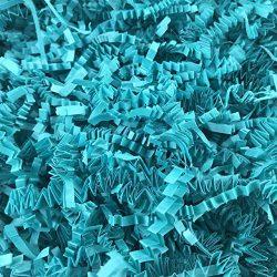 Black Cat Avenue 1/2 LB Teal Crinkle Cut Paper Shred Filler For Gift Wrap and Basket Filler