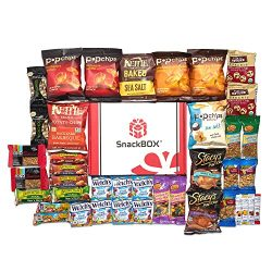Healthy Snacks Care Package Snack Box for College Students, Military, Gift Basket, Fathers Day,  ...