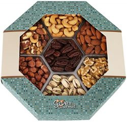 GIVE IT GOURMET,Fathers Day Freshly Roasted Delicious Healthy Nuts Holiday Gift Basket Jumbo 2 L ...