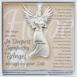 The Grandparent Gift Sympathy Angel Memorial Keepsake