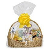 25 Clear Cellophane bags 24″ x 30″ extra large jumbo round cello gift basket bags