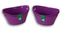 Plastic Light Purple Bowls Crafting Organization – 8 Pack