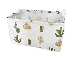 Storage Bins Toy Storage Basket Canvas Collapsible Toy Organizer for Nursery & Kid's T ...