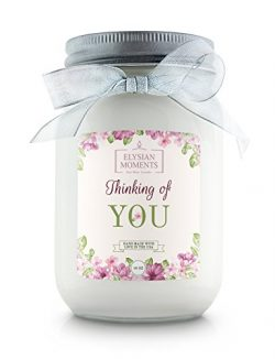 Elysian Moments Soy Wax Highly Scented THINKING OF YOU Gift Candle CINNAMON BUN 16 oz