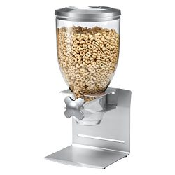 Zevro KCH-06153 Indispensable Professional Dry Food Dispenser, Single Control, Stainless Steel,  ...