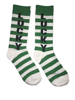 St. Patrick's Day Novelty Crew Socks – for Women Teens -Variations include Lucky Sha ...
