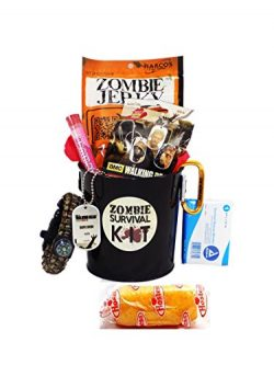 Zombie Apocalypse Survival Gift Basket with Walking Dead Loot