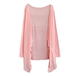 FEITONG Summer Women Long Thin Cardigan Modal Sun Protection Shawl Jacket(One Size,B)