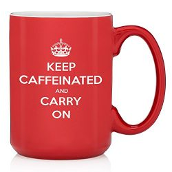 Keep Caffeinated And Carry On Funny Coffee Mug – Best Birthday Gifts For Men & Women & ...