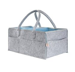 Lily Oliver Baby Diaper Caddy Organizer – Portable Storage Bag for Baby Essentials Cloths, Lotio ...