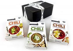 Urban Accents Organic Chili Starter Seasonings 3-Flavor Variety: One 1 oz Package Each in a Blac ...