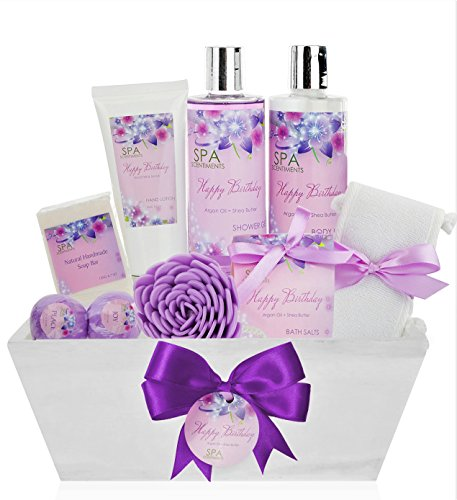 Birthday Gift Basket Spa Kit Bath Body Set Is