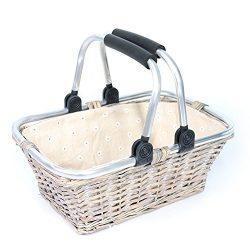 KRZIL Oypeip Father's Day Gift Basket Luxury Woven Willow Storage Basket Picnic Basket Rec ...