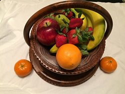 Special DAY Wedding LOVE Gift Wooden Collapsible Fruit Basket (12″x12″x12″) El ...