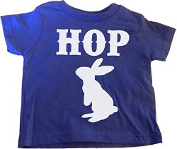 Custom Kingdom Little Boys Hop Easter Egg and Bunny T-Shirt Blue (4T)