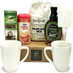 Breakfast Basket Gift – Bed and Breakfast Basket – Kitchen Breakfast Basket Gift  ...