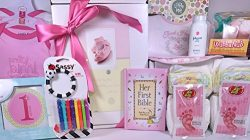 Baby Girl Gift Set Box Basket – 18 Items for the New Bundle of Joy – Send Congratula ...