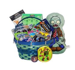 Video Game Themed Candy and Toy Easter Gift Basket Splatoon Pokemon Mario Sonic Rocket League Ze ...