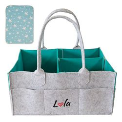 Baby Diaper Caddy Organizer with Changing Pad – Nursery Tote Bag for All Essentials | Large and  ...