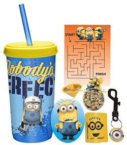 Despicable Me Minions Fun Sip Favor Cup! Valentines Day Gift, Easter Basket Filler, Stocking Stu ...