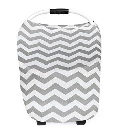 Baby Car Seat Canopy, Nursing Breastfeeding Cover Scarf, Baby Safety Baskets Sunshade Towel, Sho ...