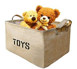 Youdepot Large Jute Storage Bin 17 x 13 x 10″ large enough for Toy Storage – Storage ...