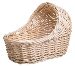 Red Co. Willow Cradle Baby Shower Girl Basket In Natural Finish – 11.5″ L x 6″ ...