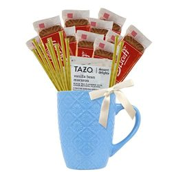 Tea Gift Set Featuring Tazo Herbal Tea, Pure Natural Honey Stix, and Biscoff Cookies Makes Perfe ...