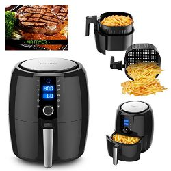 BOWUTTD Digital Air-fryer XL 5.5-Quarts Touchscreen Power Air Fryers 7-in-1 for your Air Fryer Book