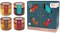 Bee Seasonal Organic Honey Varietal Gift Set – 4 x 4oz – Harvest 001 Limited Edition ...