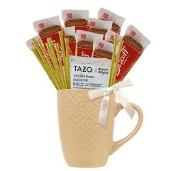 Tea Gift Set Featuring Tazo Herbal Tea, Pure Natural Honey Stix, and Biscoff Cookies Makes Perfe ...